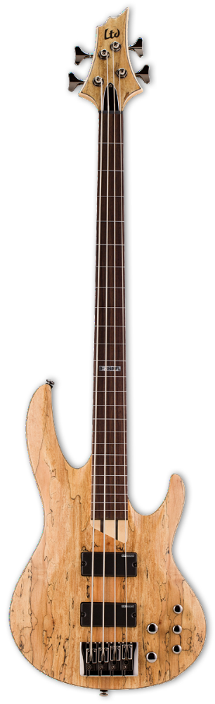 ESP LTD  B-204sm Fretless Natural Satin